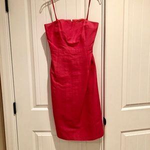 Rose colored strapless J Crew dress